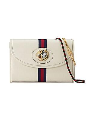 b1ceec679630f9 Gucci - Small Rajah Leather Shoulder Bag - saks.com