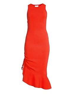 63f5cb81a2d QUICK VIEW. Milly. Asymmetrical Flounce Hem Dress