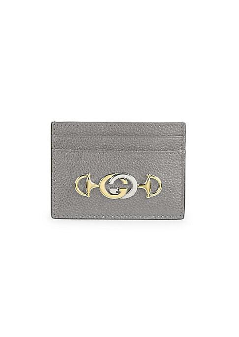 Gucci , Gucci Zumi Grainy Leather Card Case , saks.com