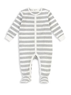 b3e7b079 1; 2. Baby's Stripe Footie LIGHT GREY. QUICK VIEW. Product image