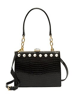 5e9dfd4ac239 QUICK VIEW. Miu Miu. Solitaire Embossed Leather Shoulder Bag