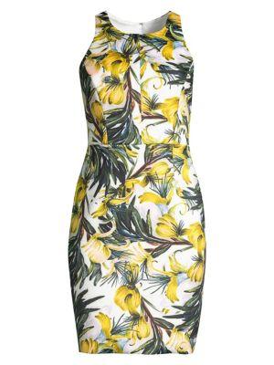 Milly Dresses Oasis Print Neoprene Sheath Dress