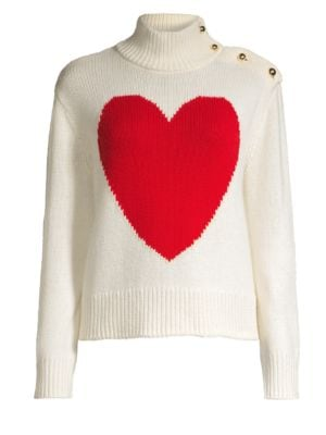 Broome Street Heart Turtleneck Sweater by Kate Spade New York