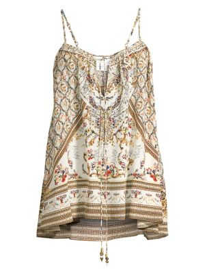 Camilla Tops Camilla Silk Embellished Camisole