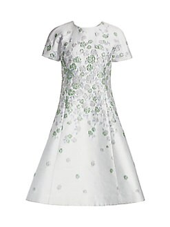 cb4f912f98 QUICK VIEW. Teri Jon by Rickie Freeman. Floral Jacquard A-Line Dress