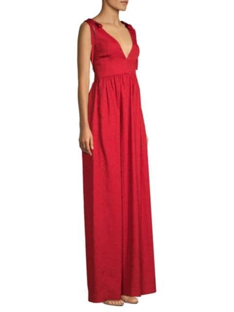 Rebecca Vallance Harlow Tie-Shoulder A-Line Gown | SaksFifthAvenue