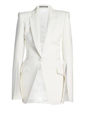 Alexander Mcqueen Women's Lace Jacket In Light Ivory