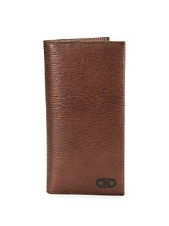 ff1a67457197 Salvatore Ferragamo. Revival Gancini Textured Leather Breast Pocket Wallet