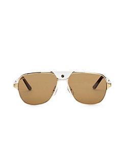 ab516d03b69 Cartier. 60MM Aviator Sunglasses