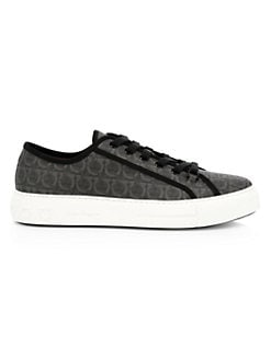 db25d44785e0 Salvatore Ferragamo. Anson Logo Print Low-Top Sneakers