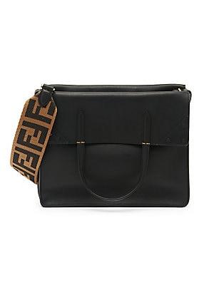 4f295ae7ba4f Fendi - Fendi Regular Flip Leather Crossbody Bag