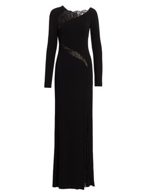 Alexander Mcqueen Tops Lace Panel Jersey Gown