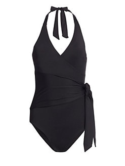 3c7221f217 Product image. QUICK VIEW. Onia. Elena Tie-Front One-Piece Swimsuit