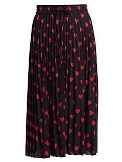 3909a459dd Product image. QUICK VIEW. REDValentino. Heart Pleated Midi Skirt