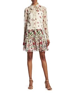 05bc8316d99 Floral Tie-Neck Dress LATTE · Product image. REDValentino
