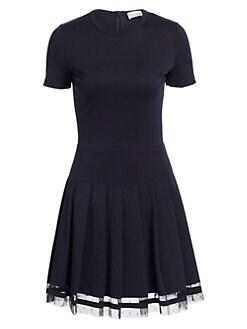 7d7e835550b QUICK VIEW. REDValentino. Short Sleeve Pleated Skirt Dress
