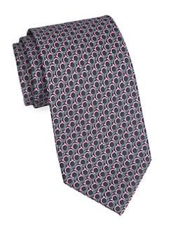 15be96f9251d Salvatore Ferragamo. Large Gancini Silk Tie