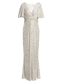 fe4ee38634 Teri Jon by Rickie Freeman. Sequin Mermaid Gown