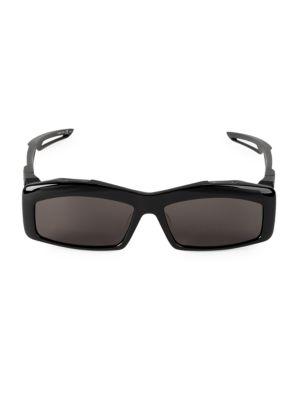 Balenciaga 59Mm Unisex Rectangular Sunglasses In Black