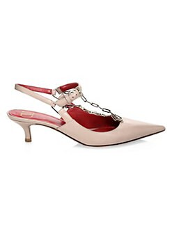 d602ae7313 Chain Slingback Leather Pumps POUDRE. QUICK VIEW. Product image. QUICK  VIEW. Valentino Garavani