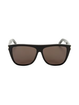 Saint Laurent 59mm Studded Square Sunglasses