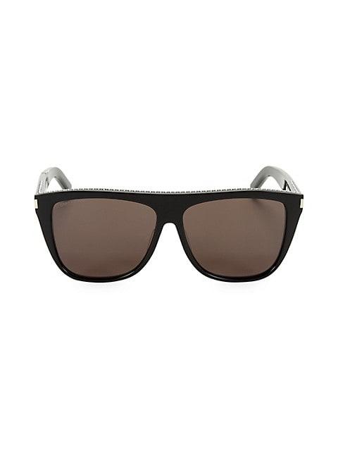 59MM Studded Square Sunglasses