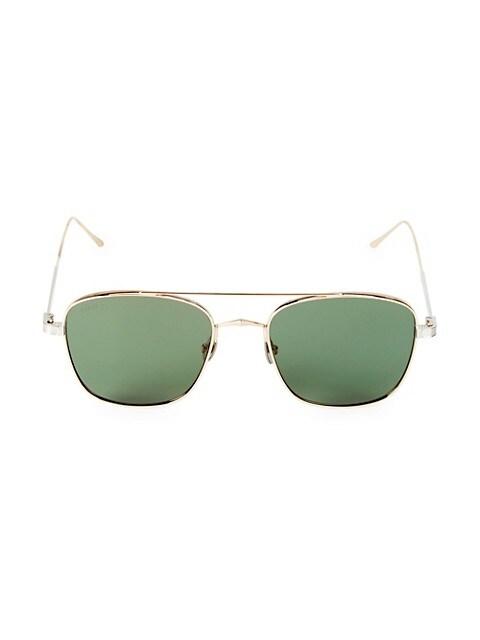 55MM Square Browline Sunglasses