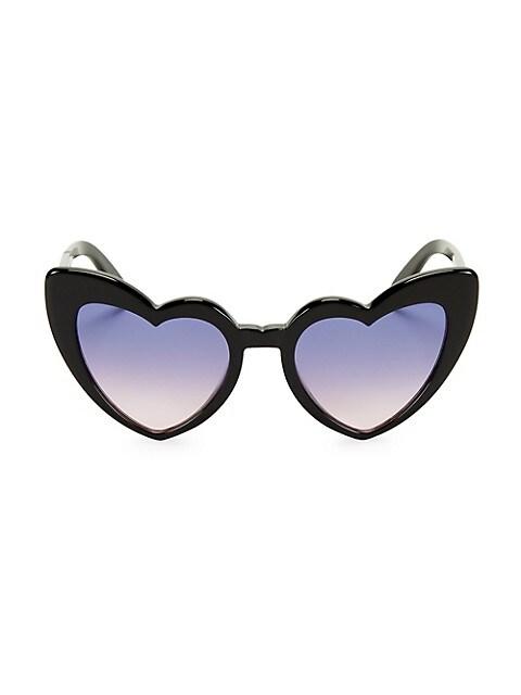 Loulou 54MM Heart Sunglasses