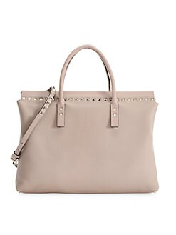 122508e3f73af QUICK VIEW. Valentino Garavani. Medium Rockstud Leather Top Handle Bag