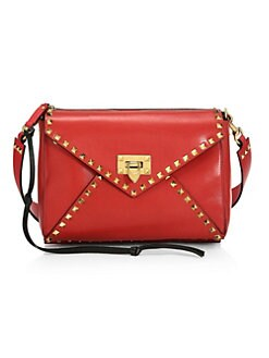 b3081a292c Rockstud Hype Medium Leather Shoulder Bag DEEP RED. QUICK VIEW. Product  image. QUICK VIEW. Valentino Garavani