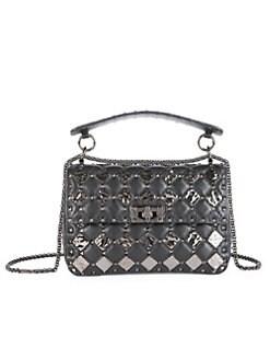 710020a42e Product image. QUICK VIEW. Valentino Garavani. Medium Rockstud Spike  Leather Shoulder Bag