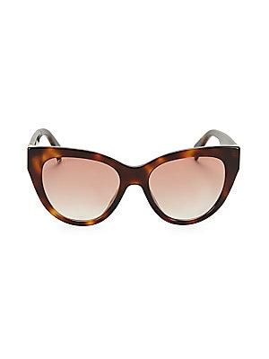 9fe58a43320 Gucci - 53MM Havana Cat Eye Sunglasses - saks.com