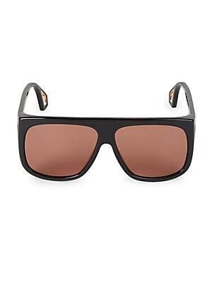 779451a4551 Gucci - Fashion Show Dark Havana   Crystal Mask Sunglasses 99MM ...