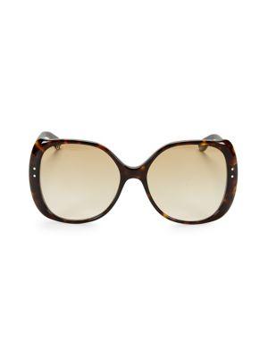 509869c5a Gucci - 56MM Havana Square Sunglasses - saks.com