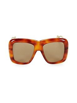 0d0704a0a92 Product image. QUICK VIEW. Gucci. 54MM Havana Square Sunglasses