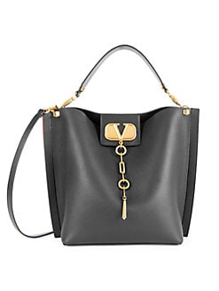 349c271b62f Valentino Garavani. Vlogo Escape Leather Hobo Bag