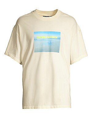 """Image of Classic cotton tee with a smog city graphic. Crewneck Short sleeves Pullover style Cotton Machine wash Made in USA SIZE & FIT About 27"""" from shoulder to hem. Men Adv Contemp - Trend Collections. Daniel Patrick. Color: Tan Green. Size: Large."""