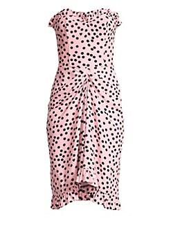 90ecb78812c28 QUICK VIEW. Escada. Polka Dot Strapless Dress
