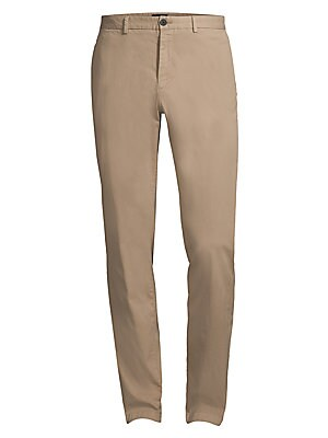 Image of Theory's everyday pant has a slim cut and narrow leg opening. With belt loops and slash pockets for a tailored, casual look, this pant is made of premium Italian stretch cotton with a garment wash for extra softness. Banded waist with belt loops Zip fly w