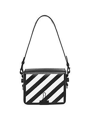 10af43732253 Off-White - Mini Diagonal Stripe Binder Clip Shoulder Bag - saks.com