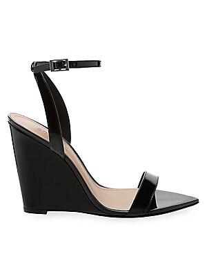 36d8e150027 Schutz - Raquel Polished Leather Wedge Sandals - saks.com