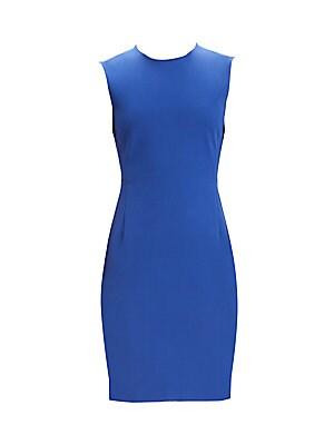 Double Stretch Sleeveless Sheath Dress by Theory