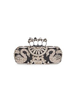 552f56c656 QUICK VIEW. Alexander McQueen. Embellished Leather Ring Clutch