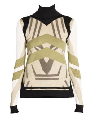 Fendi Stripe Turtleneck Sweater