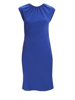 Gathered Crepe Sheath Dress by Theory