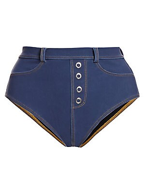 Eash Denim High Waisted Bikini Bottom by Jonathan Simkhai