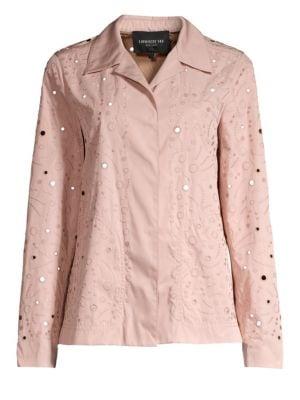 Lafayette 148 New York Jaren Punctured Tech Cloth Jacket