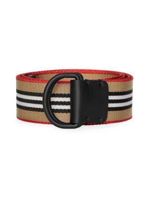 Burberry Icon Stripe Double D Ring Belt