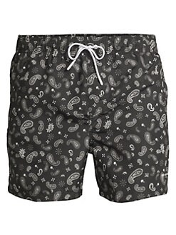 ca8fbf7cce The Kooples. Paisley Bandana Print Swim Trunks