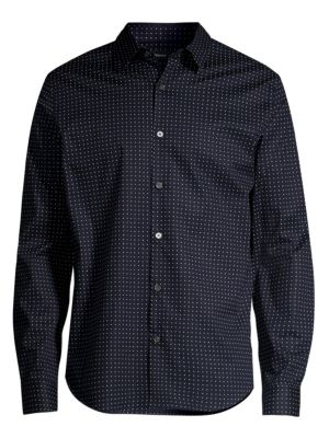 Theory Irving Sphere Print Long Sleeve Shirt